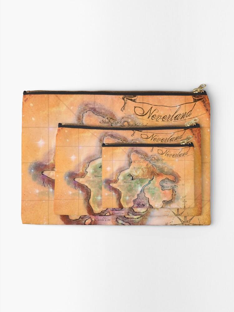 Alternative Ansicht von Neverland Karte Täschchen