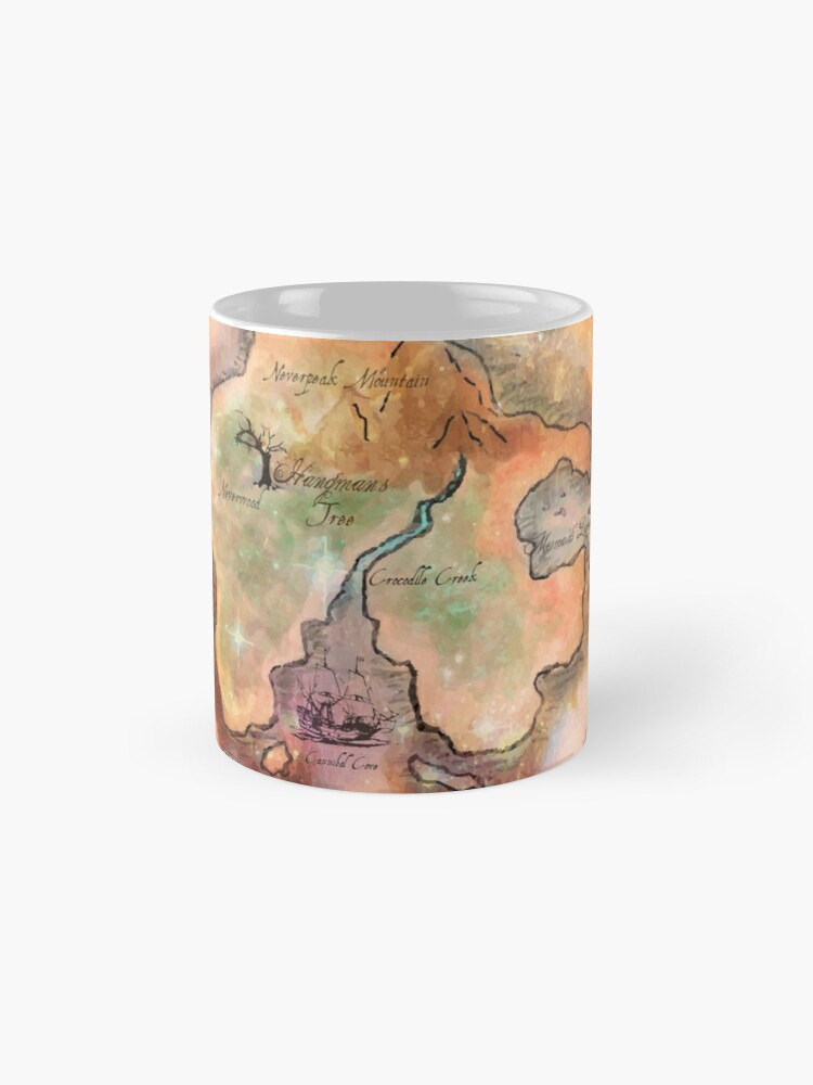 Alternative Ansicht von Neverland Karte Tasse