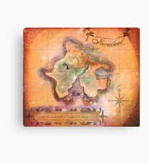 Neverland Map  Canvas Print