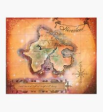 Neverland Map  Photographic Print