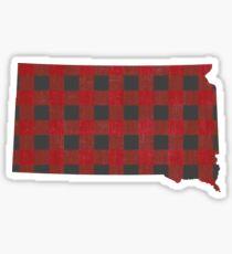 South Dakota Plaid in Rot Sticker