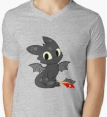 Little Dragon Men's V-Neck T-Shirt