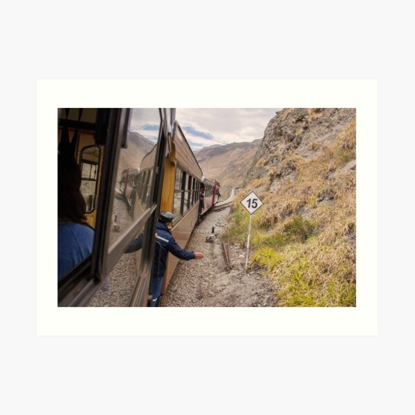 Devil's Nose train ride with conductor, Ecuador Art Print