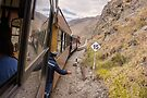 Devil's Nose train ride with conductor, Ecuador by Kendall Anderson