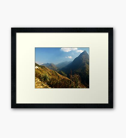 Tam Duong area of North West Vietnam Framed Print