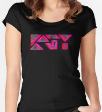KP UNIQUE KATY Women's Fitted Scoop T-Shirt