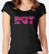 KP UNIQUE KATY Tailliertes Rundhals-Shirt