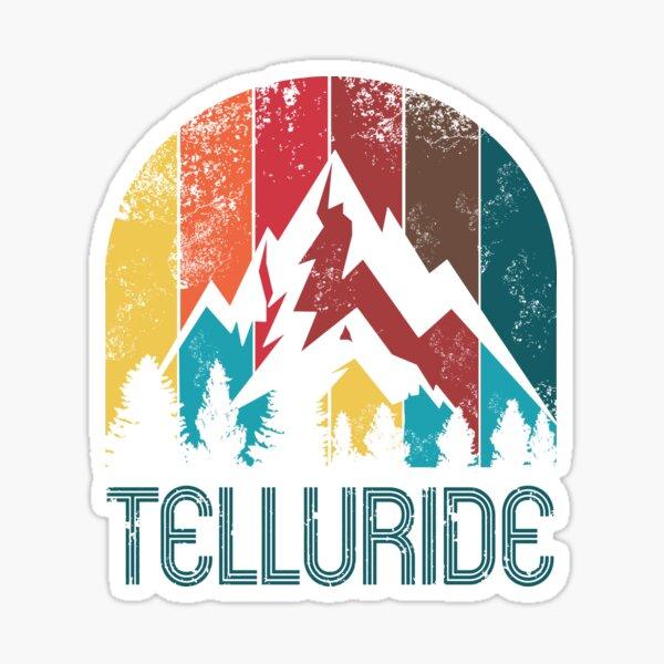 Retro City of Telluride T Shirt for Men Women and Kids Sticker