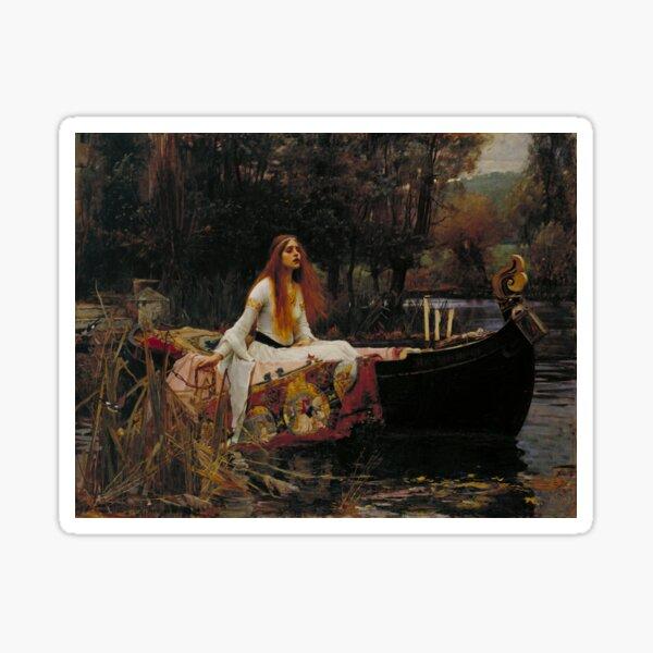 The Lady of Shalott (John W. Waterhouse) Sticker