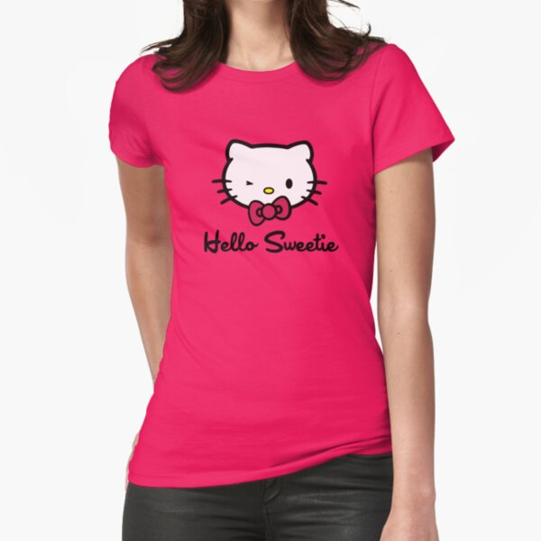 Hello Sweetie Fitted T-Shirt