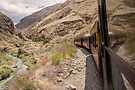 Devil's Nose train ride in mountain valley, Ecuador by Kendall Anderson