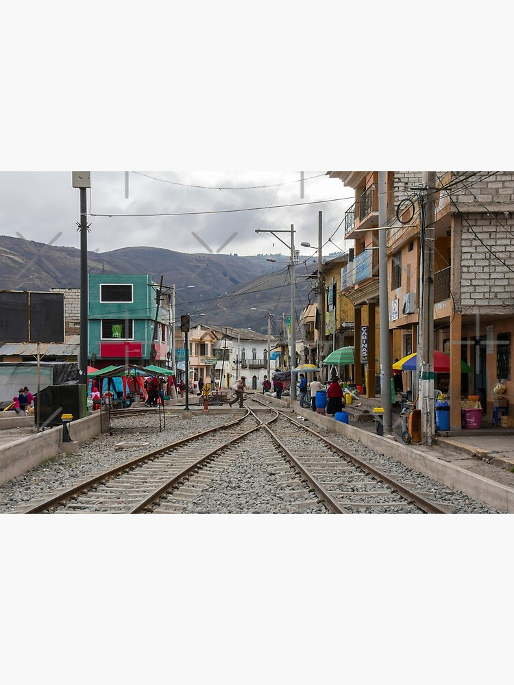 Train tracks through middle of city, Guamote, Ecuador by kpander