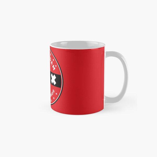 Amsterdam Flag, circle, red bg Classic Mug