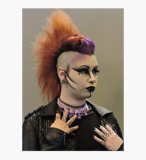 Punky Purple Photographic Print