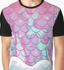 Mermaid   Blossoms Graphic T-Shirt