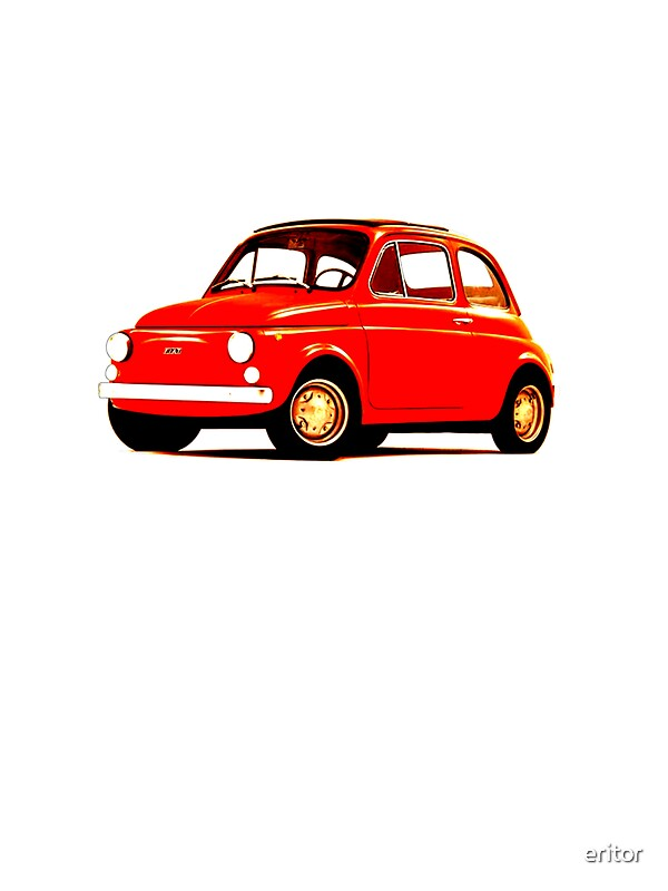 original fiat 500 stickers by eritor redbubble. Black Bedroom Furniture Sets. Home Design Ideas