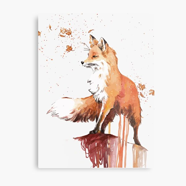Beautiful Fox Metal Print