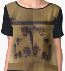 Building, Technopunk, Steampunk, Cyberpunk Chiffon Top