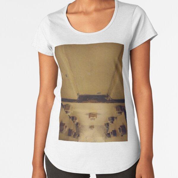 Building, Technopunk, Steampunk, Cyberpunk Premium Scoop T-Shirt