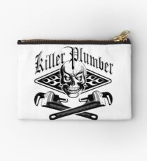 Plumber Skull and Wrenches 3.1 Studio Pouch