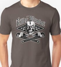Plumber Skull and Wrenches 3.1 Unisex T-Shirt