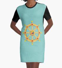Wheel of the Dharma Graphic T-Shirt Dress