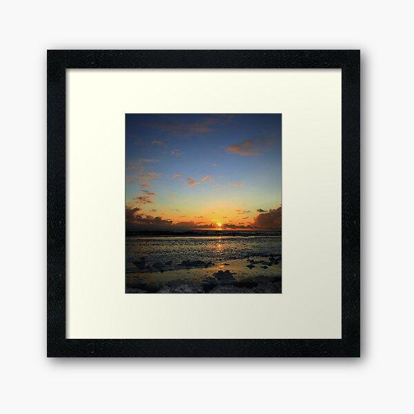 Garrynamonie  Sunset Framed Art Print