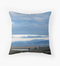 Clouds Above and Below Throw Pillow