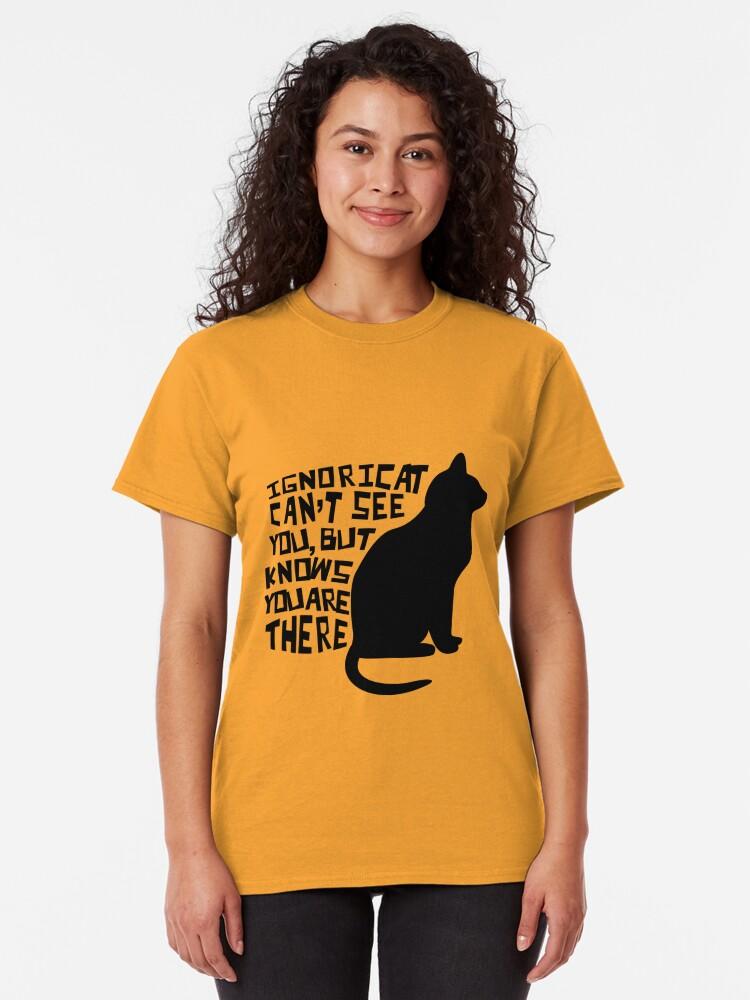 Alternate view of Ignoricat Classic T-Shirt