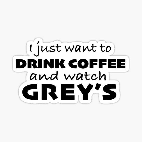 Grey's y café Pegatina