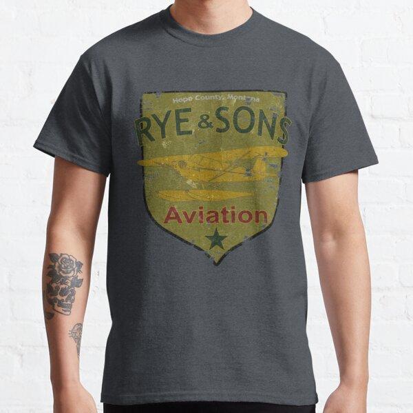 Rye & Sons Aviation FarCry 5 Piper Cub Floatplane Design Classic T-Shirt