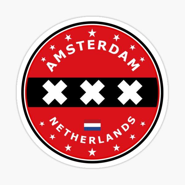 Bandera de Amsterdam, círculo Pegatina