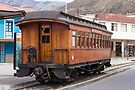 Devil's Nose wooden antique passenger train car, Alausi, Ecuador by Kendall Anderson