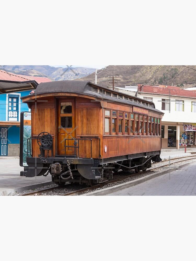 Devil's Nose wooden antique passenger train car, Alausi, Ecuador by kpander