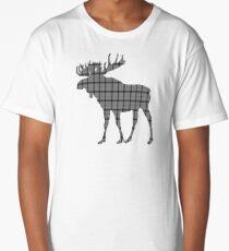 Moose: Grey Plaid Long T-Shirt