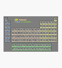 QR-code Periodic Table of Elements Photographic Print