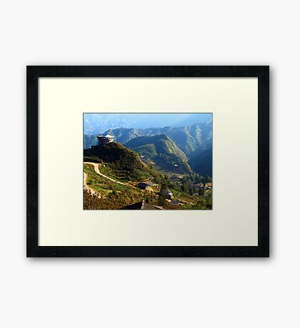Mountains near Sapa, North Vietnam Framed Print