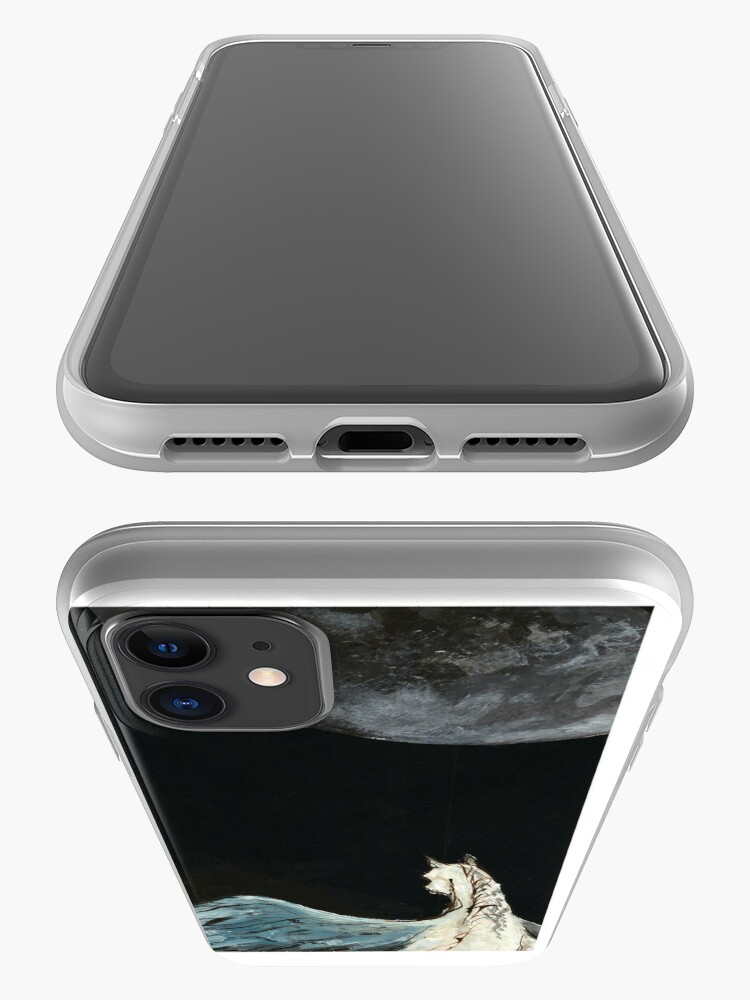 Alternate view of Horse flying to the moon Silver stream illustration iPhone Case & Cover