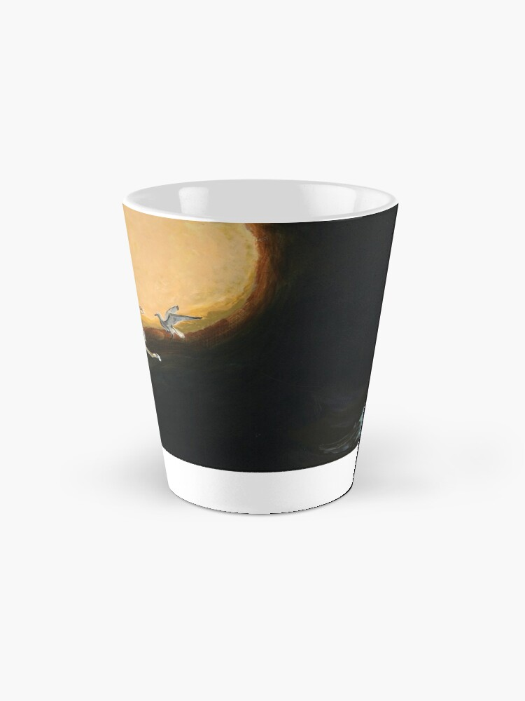 Alternate view of Horse flying to the moon Silver stream illustration Mug