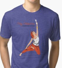 Yoga Celebration - Parighasana Party Style Tri-blend T-Shirt