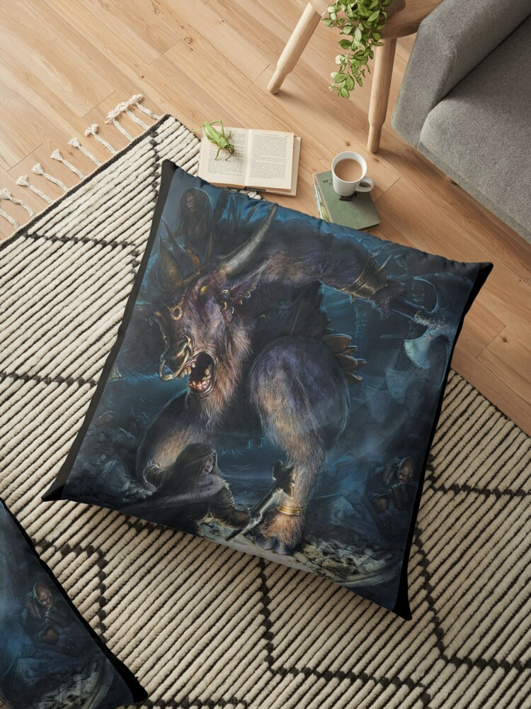 'Baphomet' Floor Pillow by Filox