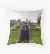 Foxton Locks Throw Pillow