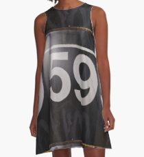 Number, Building, Technopunk, Steampunk, Cyberpunk A-Line Dress