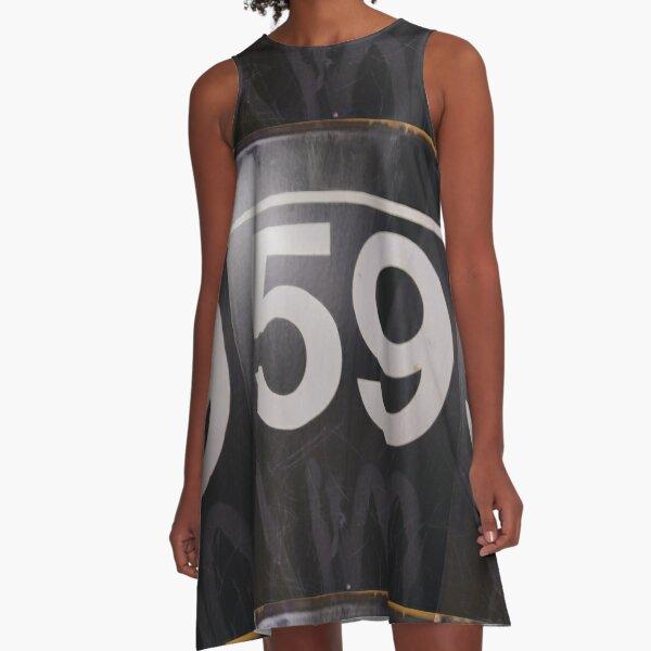 Number, Building, Technopunk, Steampunk, Cyberpunk A-Line Dress
