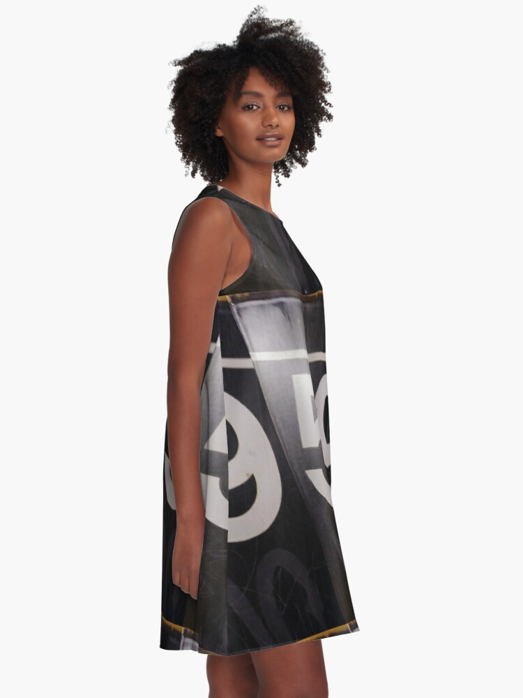Alternate view of Number, Building, Technopunk, Steampunk, Cyberpunk A-Line Dress