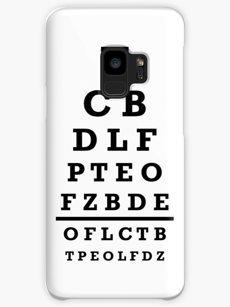 Eye Chart Test Cases Skins For Samsung Galaxy By Designzz Redbubble