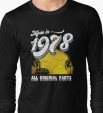 Camiseta de manga larga Hecho en 1978 todas las piezas originales 40.o regalo de cumpleaños