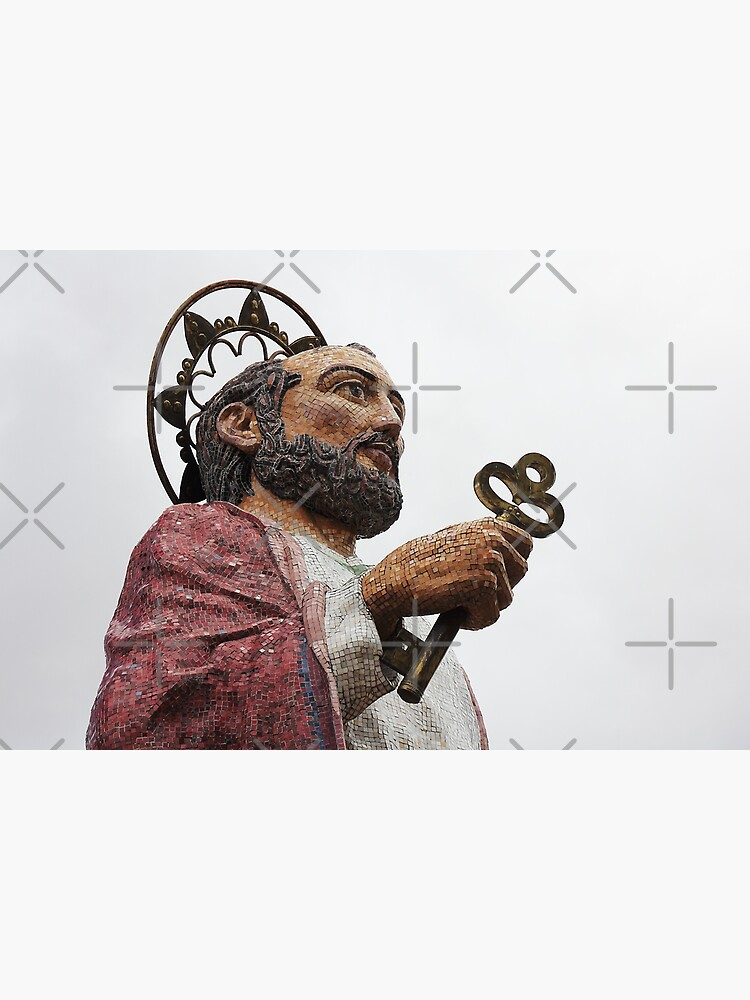 Tiled statue Mirador San Pedro, patron saint of Alausi, Ecuador by kpander