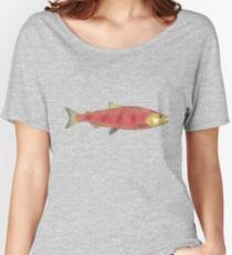 Chinook (King) Salmon - Spawn Phase Women's Relaxed Fit T-Shirt