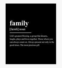 family Photographic Print